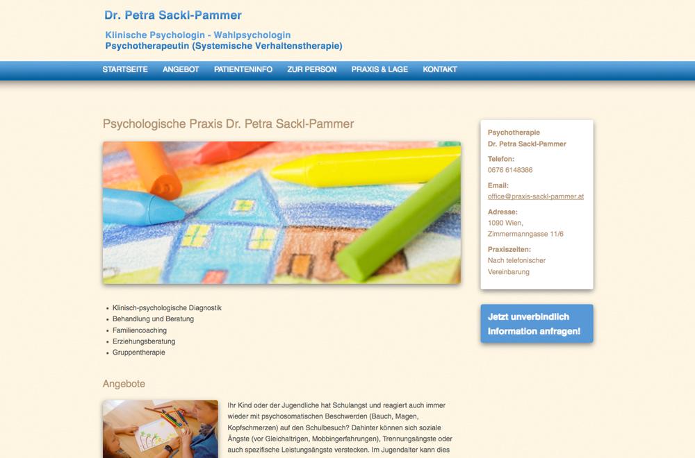 Webdesign wien logo referenzen dr sackl pammer for Grafik design praktikum wien