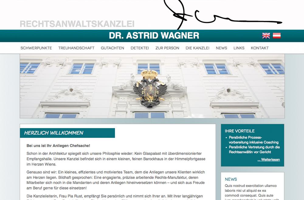 Webdesign wien logo referenzen dr astrid wagner for Grafik design praktikum wien