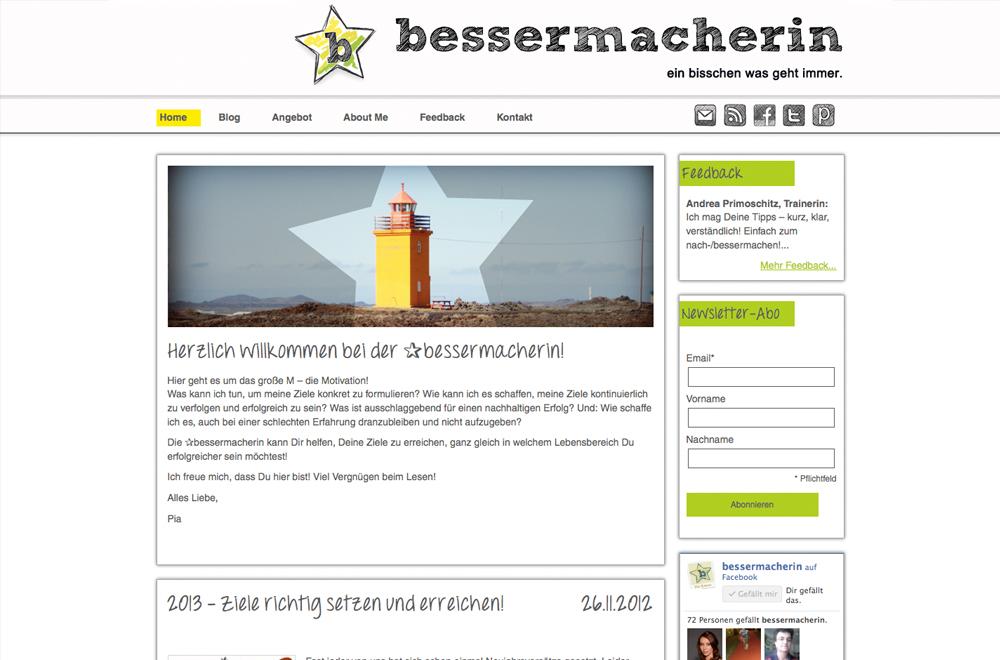 Webdesign wien logo referenzen die bessermacherin for Grafik design praktikum wien