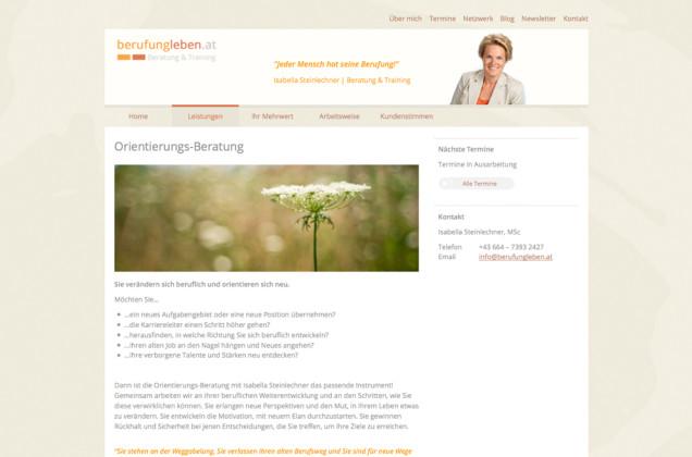 Webdesign & Grafik - Beispiel: Isabella Steinlechner