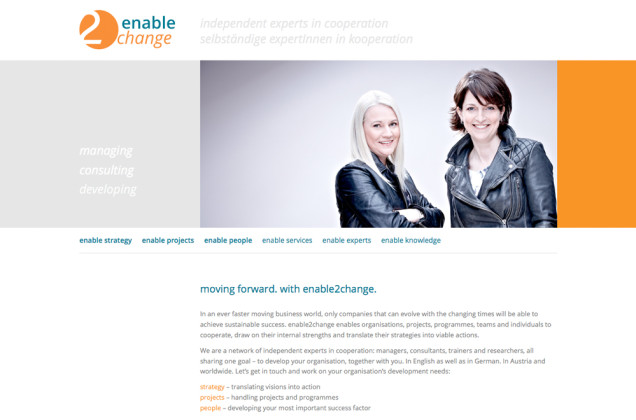 Webdesign & Grafik - Beispiel: enable2change