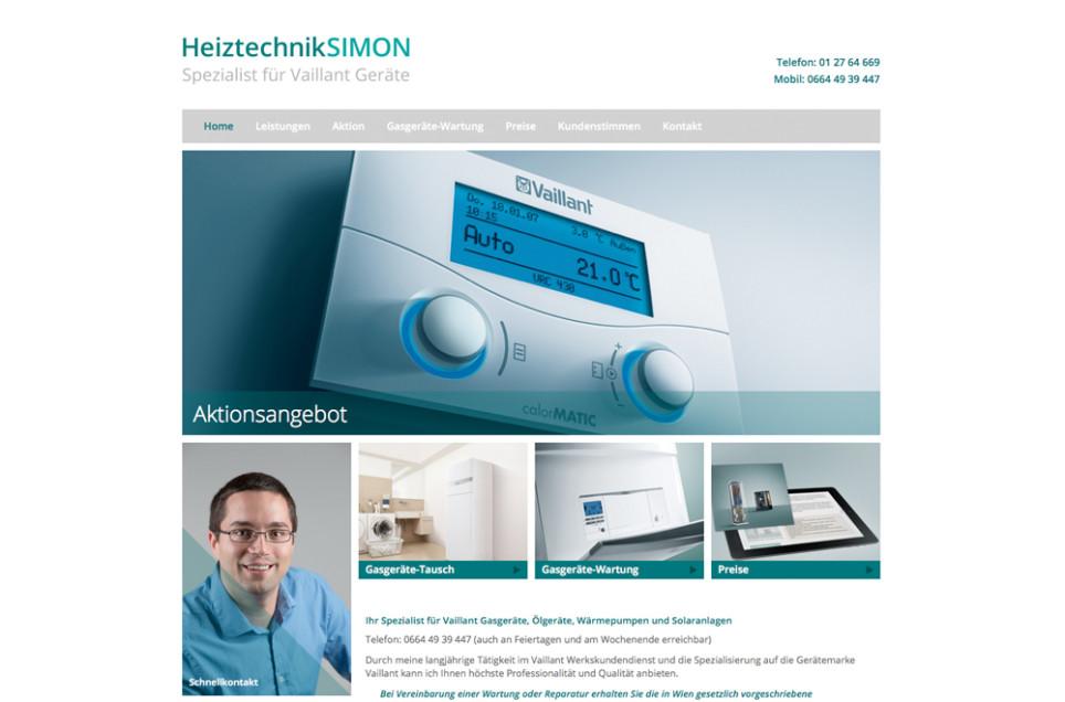 Webdesign & Grafik - Beispiel: Heiztechnik SIMON