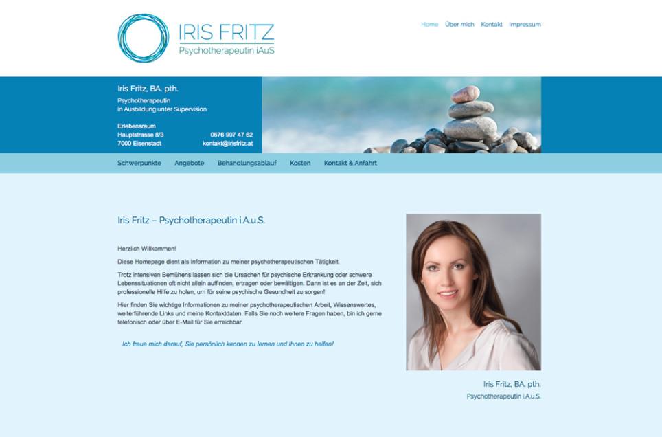 Webdesign & Grafik - Beispiel: Iris Fritz Psychotherapie