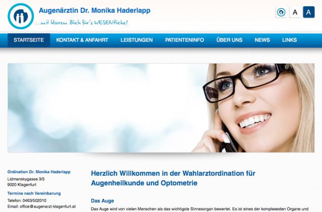 Webdesign & Grafik - Beispiel: Dr. Haderlapp