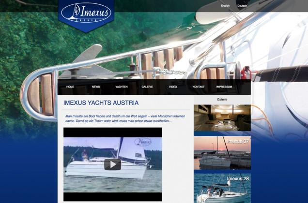 Webdesign & Grafik - Beispiel: Imexus Yachts