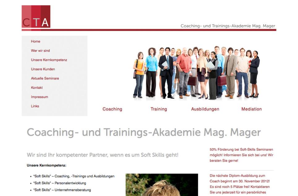 Webdesign & Grafik - Beispiel: CT-Akademie