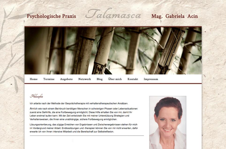 Webdesign & Grafik - Beispiel: Talamasca