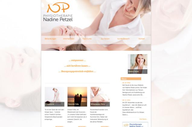 Webdesign & Grafik - Beispiel: Nadine Petzel