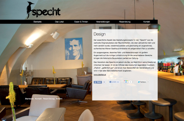 Webdesign & Grafik - Beispiel: Restaurant Specht