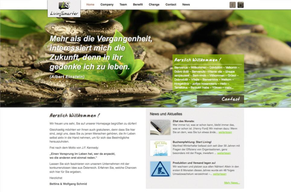 Webdesign & Grafik - Beispiel: LivingSmarter