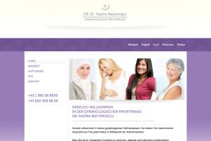 Webdesign & Grafik - Beispiel: Dr. Nazira Baytaroglu