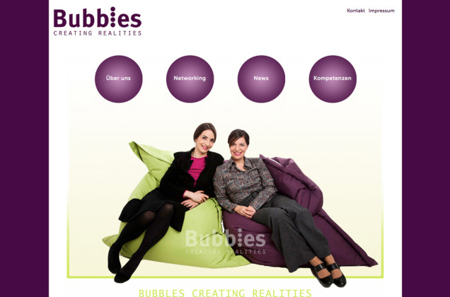 Webdesign & Grafik - Beispiel: Bubbles