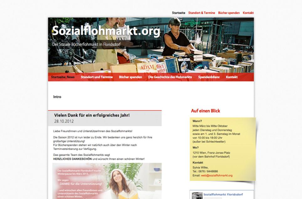 Webdesign & Grafik - Beispiel: Sozialflohmarkt Floridsdorf