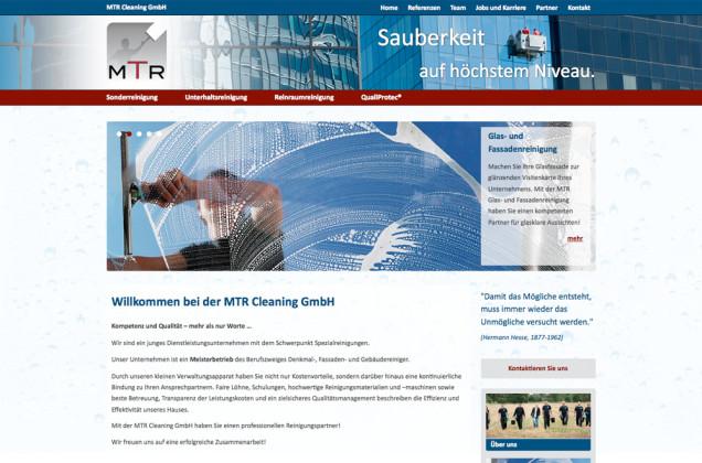 Webdesign & Grafik - Beispiel: MTR Cleaning GmbH