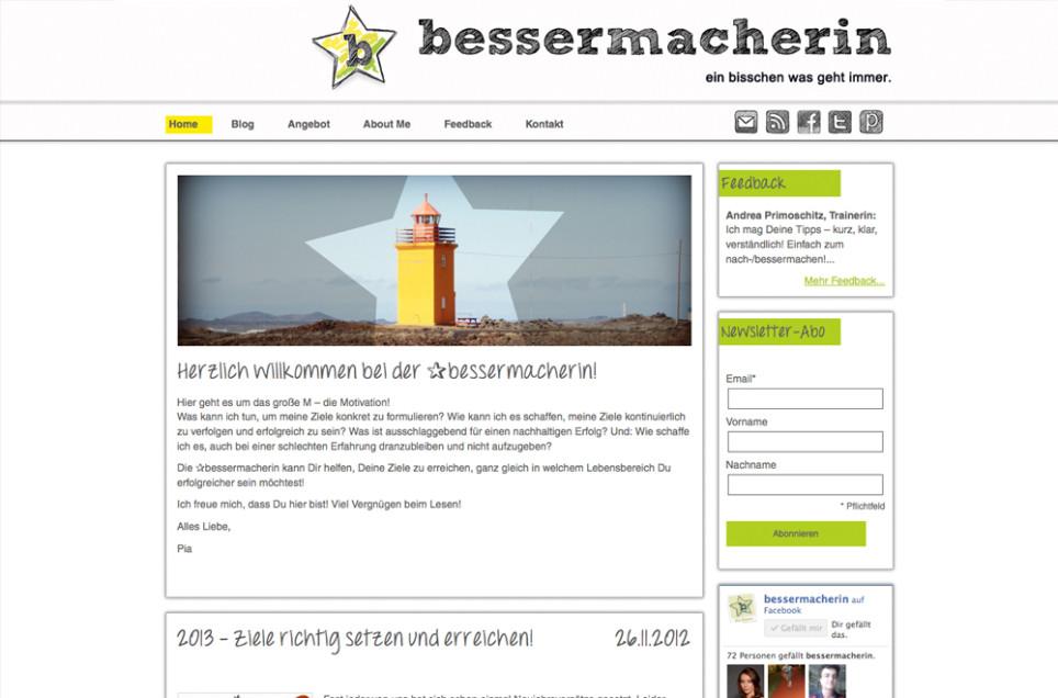 Webdesign & Grafik - Beispiel: Die Bessermacherin