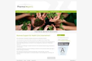 Webdesign & Grafik - Beispiel: PharmaExperts